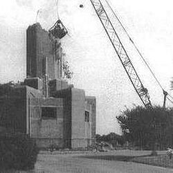 Demolition of Riverside Bell Tower in the 1970s