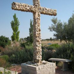 Stone Cross made by Norm Bean from rocks he collected personally