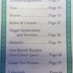 Book of Happy Things - a collection of Annual High Tea recipes
