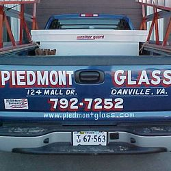 Piedmont Glass Trucks around town