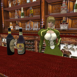 Alice the barmaid of McBride's pub.