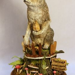 Tom Wolf Wood Carver by Ronnie McMahan