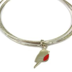 Hand made Robin bangle - Unique hand made jewellery