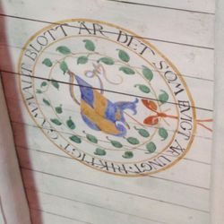 Carl skrev många kloka ord och citat lite här och där i sitt hus.