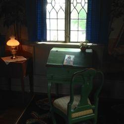 Här satt Carl Larsson och skrev på sina memoarer ända in i det sista.