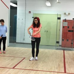 Learning to play squash!