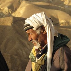 Bedouin man above Jericho Road