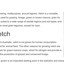 Grownote on Vetch produced as part of the GRDC  digital learning resources.