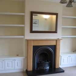 Alcove shelves and tv cabinet
