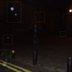 Ghostly light orbs at the side ofn the castle Keep Photo by Kim