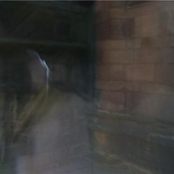 A ghost man and horse in the graveyard on the Newcastle Ghost Walks