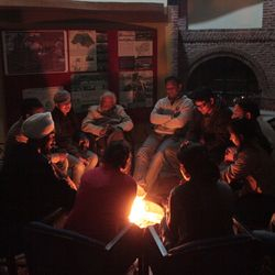 Discussions enlightened during bonfire