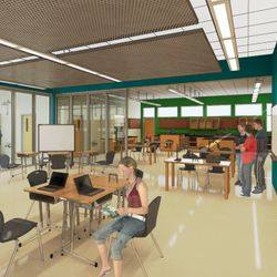 Colorado Academy Upper School - Rendering Credit: H+L Architecture