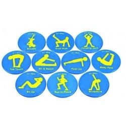 Exercise DOTS for interval circiut training indoor and out made of rubber $50.00
