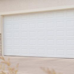 Basic White Garage Door