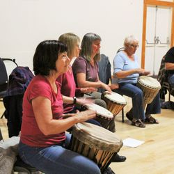 Djembe drumming with Monica Hofer