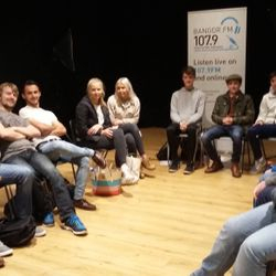 Bangor FM studios are used to host training sessions for students.