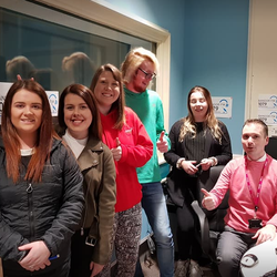 Bangor FM welcomed volunteers from YMCA North Down in January 2018