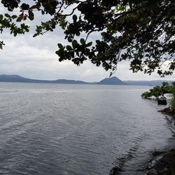 View of Taal Volcano along the property for sale in Talisay, Batangas.  This property sits on the shoreline of Taal Lake.