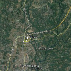 Location map of 11 hectare commercial property for sale in Batangas City