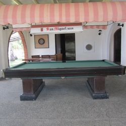 Billiard table in Calatagan, Batangas resort.