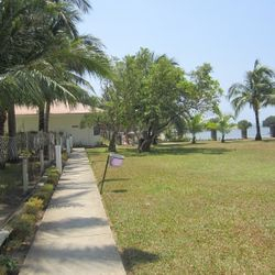open lawn and play area in Calatagan, Batangas resort.
