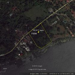 Google Map view of Talisay, Batangas, Lake side resort lot for sale.