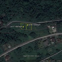 google map lot plan of lot for sale in Liesure Farms, Lemery, Batangas