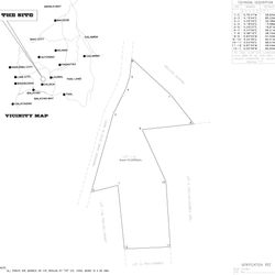 Lot plan of the property. slightly irregular shape, but mostly buildable terrain.