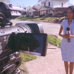 Beairshelle Gives Live Play-by-Play for a Breaking News House Explosion, Damaging Entire Dayton, Ohio Neighborhood.