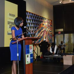 Beairshele serves as the mistress of ceremonies for the 50th Anniversary Gala for Miami Valley Childhood Development Centers, a division of HeadStart program.