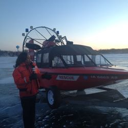 Annual University Okoboji Games Turn Into Record-Breaking Rescue Missions for Fire Department on the Frozen Smith Bay.