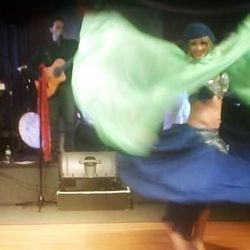 Veil dance with Gypsy Star band, St Petersburg