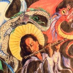 Master of Dreams 1' x 1 1/2 ' Ink