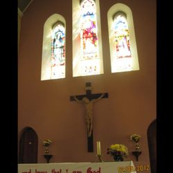 Main altar in Killygarry Church, Co. cavan