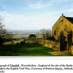 Battle of Edgehill in the 17th century