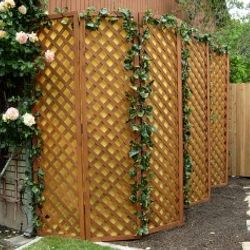 Cedar Lattice Panels with fabric screening