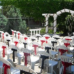 Roman Columns package - ceremony view