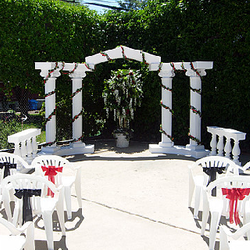 Roman Columns package - outdoor setup
