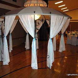Covered Wrought Iron Gazebo - receiving line area