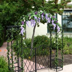 Gated Wrought Iron Arch