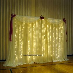 Fabric Panel backdrop with lights