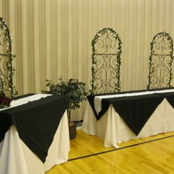 Tuscan Arch package - book table and gift table
