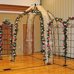 Wrought Iron Gazebo and Trellis Panels - main backdrop