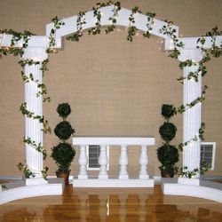 Roman Columns with lighted ivy