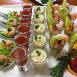 An array of savoury canapes