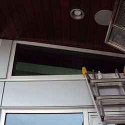Before: unsightly gap allows air flow and nesting of bugs