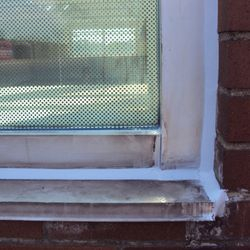 Properly installed replacement caulking and glazing sealant will provide years of waterproofing