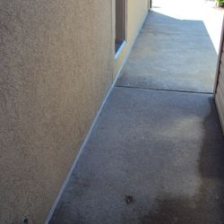 Sealing sidewalk to foundation keeps water out and provides esthetic appeal