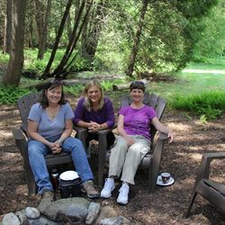 Lunch time break by the creek at Reiki course, Cedar Cove Wellness Cobourg ON area